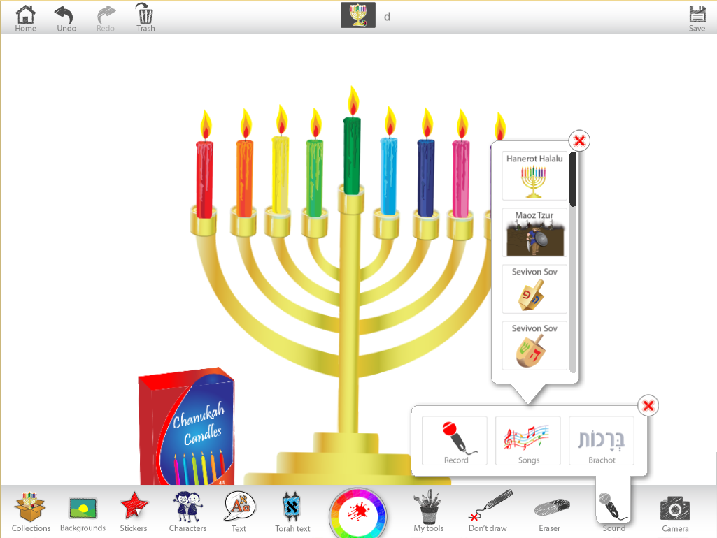 Chanukah Ji Studio Menorah Lighting Diagram 1d Use The Sound Tool To Insert A Song That You Would Sing Around Lit